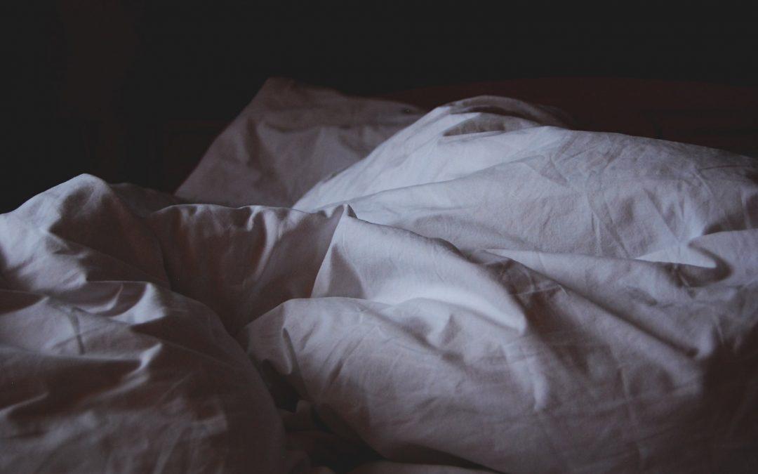 Slapen.